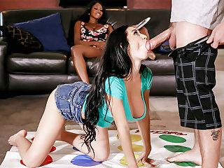 Stepmom threesome sexual intercourse with stepdaughter's boyfriend