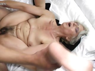 Victorian grandma hard fucked by young lover