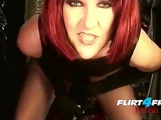 Mistress Humiliates Slave With BIG BLACK COCK Strap Essentially BDSM