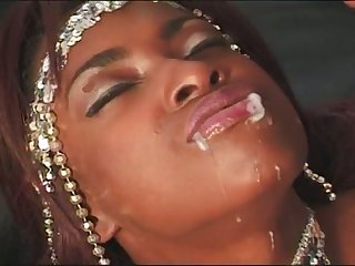 Ardent ebony chick is getting fucked by a horny eager scrounger