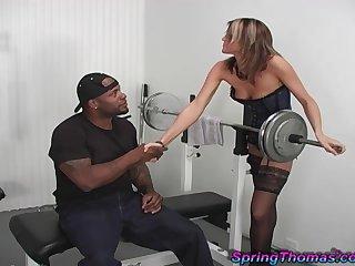 Costumed Dash off Thomas has amazing fucking skills and likes black cock