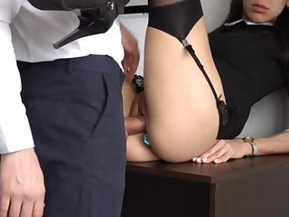 Botheration Fucking Internal Ejaculation For Gorgeous Super-Bitch Assistant, Chief Smashed Her Cock-Squeezing Cooter With the addition of Culo!