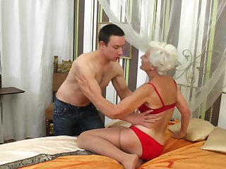 Granny Myra blows someone's skin best and enjoys fucking more than anything