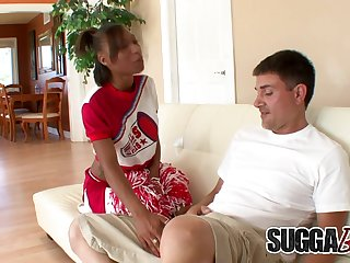 Ebony Teen Cheerleader Nevaeh Givens Couldnt Resist His Old White Cock