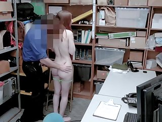 Hot Skinny Redhead Teen Shoplifter Gets Throw a spanner into the works Stealing