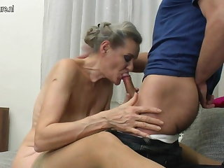 Granny suck and granny have sexual intercourse young boy