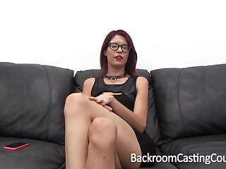 Casting Following Chokes Herself to Anal Orgasm
