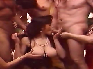 Mag's Choice vintage retro group sex with busty brunette pornstar
