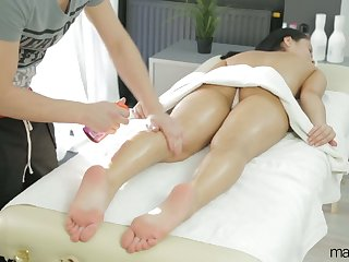 Luscious babe Kristall Rush is having fervent sex with hot blooded masseur