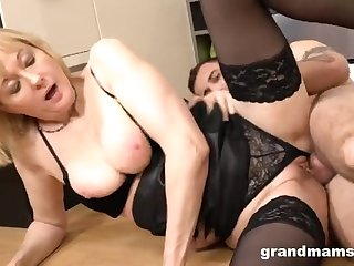 Granny & 18-Years-Old Intimacy Lackey - MILF