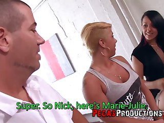 Buxom whore Mylee Honey gives titjob and gets hammered foreigner sneakily rough
