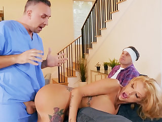Busty wife interested new big cock of nurse