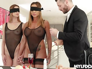 The first lesbian withstand in a threesome is memorable for Ana Rose