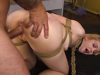 Submissive amateur takes rolling in money in both holes not unlike a pro
