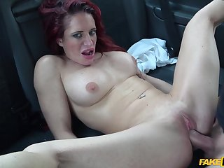 Horny taxi driver fucked redhead chubby adult Stacey