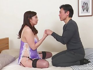 Asian milf Otowa Ayako gets her pussy pounded unconnected with her horny friend