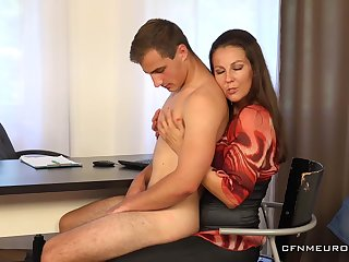 Bit mom wants to ass fuck son and dominate him dick