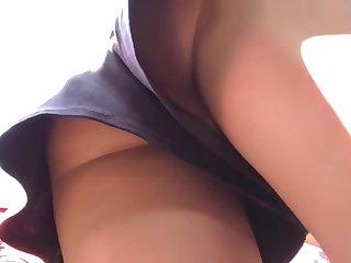 Up-skirt no panties