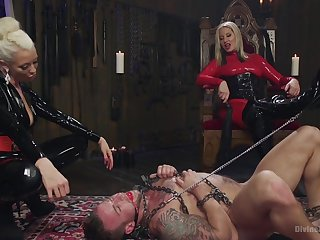 Male depending tied up together with fucked by Maitresse Madeline Marlowe