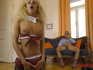 Old guy gets lucky and sticks his dick in wild Monique Woods