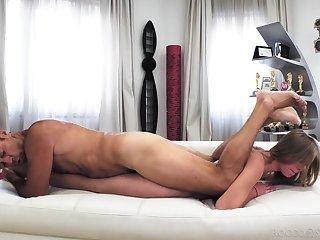 Mind blowing anal in insane sling XXX round Rocco