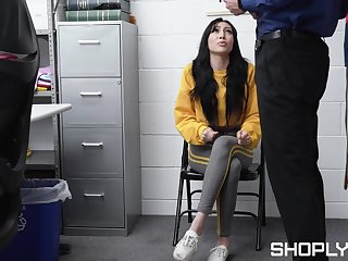 Nice teen Judy Jolie is fucked with an increment of jizzed by one security guy