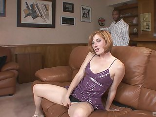 Interracial pain in the neck drilling the greatest Allison Wyte and a black guy