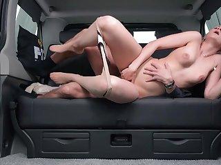 Sexy Czech Blonde Katie Sky Gets Cum in Car - hookup sex
