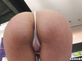 Sweet gloom girl Abby Lee Brazil enjoys getting fucked by a brace
