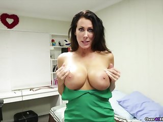 Premium mature with huge boobies, bonkers POV oral tryout