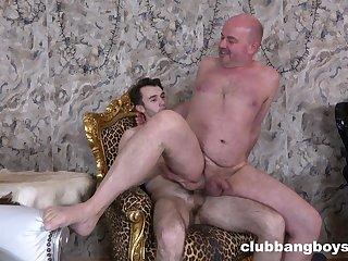 Old baffle leaves his gay nephew fuck his irritant merciless