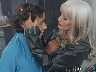 Horny Granny Permeate D'Angelo Seduces Latina Youngster Ricky