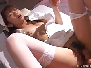 Naughty Japanese keeping enjoys property fucked in the first place the hospital bed