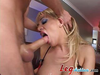 Twin insight MMF threesome with facial ending for Tatiana Stone