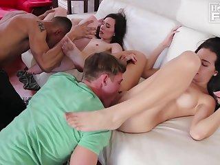 Exhort Hogan & Rachel Ford - Group Sex
