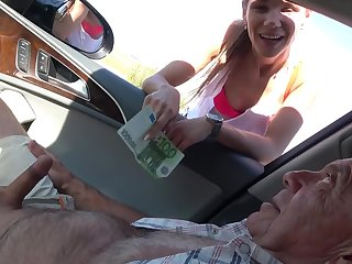 Dirty old dudes with hard cocks fuck down in the mouth sluts Izabela and Michaela
