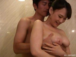 Amateur Japanese chick Hoshino Hibiki getting fucked in doggy