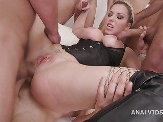 Barbie Sins In Horrific Crazty Anal Gangbang With Blonde Bombshell Barbie Added to