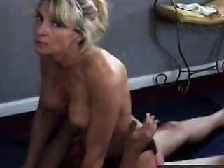 Girl talks dirty greatest extent cuckold husband films her with boloney