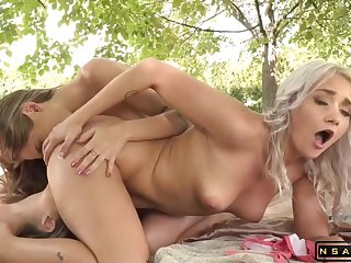 Blond Hair Babe Beauties Enjoy Making Fancy And Cunt Play Out - Big titties